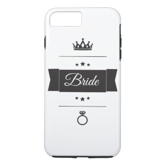 Retro Bride typography design iPhone 7 Plus Case