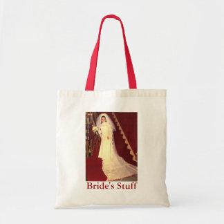 Retro Bride's Stuff Tote Bags