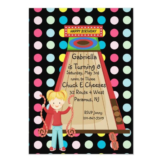Retro, Bright, and Polka Dot Arcade Invitation
