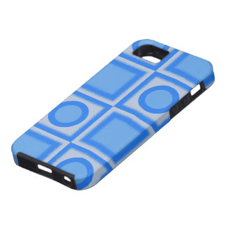 Retro Bright Blue Squares and Dots iPhone SE/5/5s Case