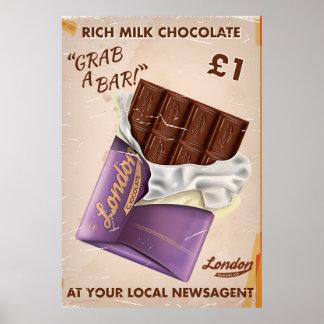 Retro British Chocolate Advert. Poster