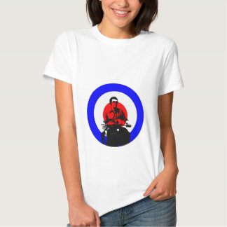 Retro British Mod Scooter Boy  Ladies Baby doll T-shirt