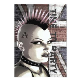 Retro British Punk Fashion Large Event Invitations