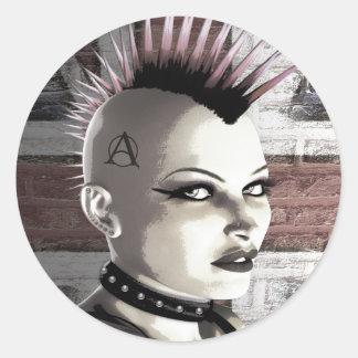 Retro British Punk Girl Stickers