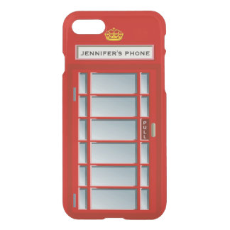 Retro British Telephone Booth Red Personalized iPhone 7 Case