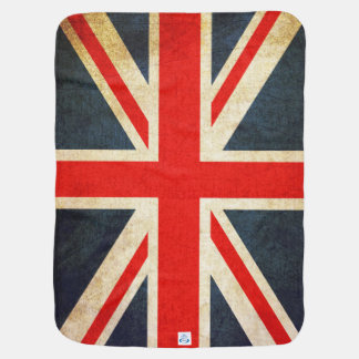 Retro British Union Jack Flag Baby Blanket