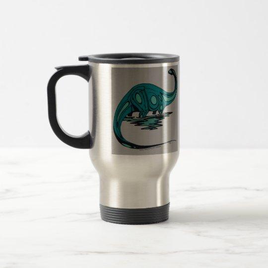 retro brontosaur travel mug