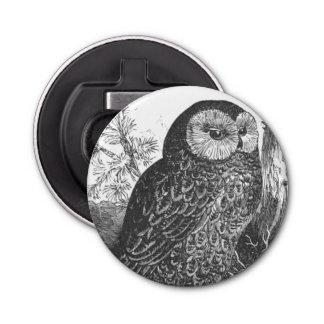 Retro brooding owl drawing bottle opener