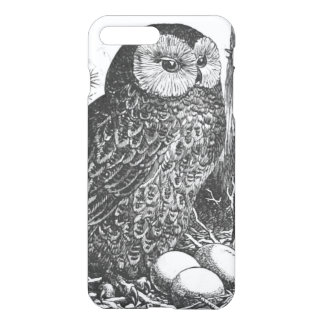 Retro brooding owl drawing iPhone 7 plus case