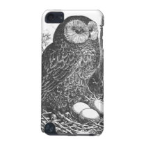 Retro brooding owl drawing iPod touch 5G cover