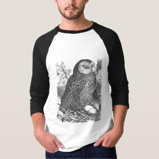 Retro brooding owl drawing T-Shirt