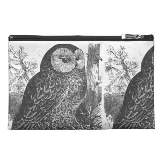 Retro brooding owl drawing travel accessory bag
