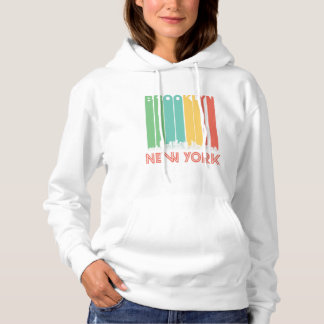 Retro Brooklyn New York Skyline Hoodie