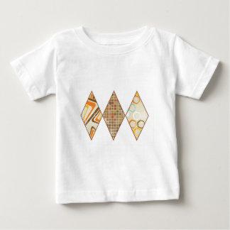 Retro Brown and Caramel Diamonds Baby T-Shirt