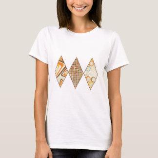 Retro Brown and Caramel Diamonds T-Shirt