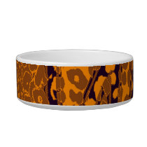 Retro brown animal print texture of leopard bowl
