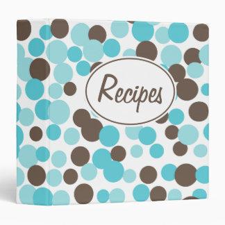 Retro Brown Aqua Recipe Binder