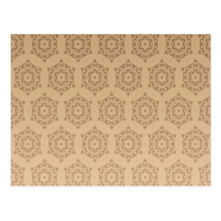 retro,brown,beige,floral,70's, pattern,vintage, postcard
