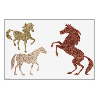 Retro Brown Horses Wall Decals