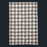 """Retro Brown Houndstooth Kitchen Towel<br><div class=""""desc"""">A retro style brown houndstooth pattern decorates this stylish kitchen towel. The design is from original art.</div>"""
