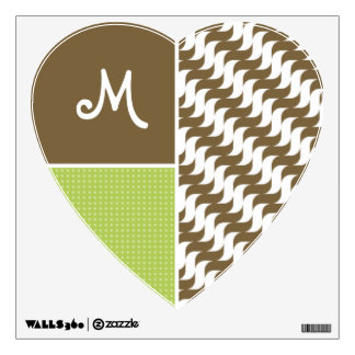 Retro Brown Wave; Waves Wall Decal