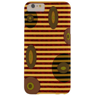 Retro Brown Yellow Stripes Circles Barely There iPhone 6 Plus Case