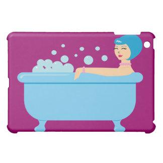 Retro Bubble Bath Girl iPad Mini Cases