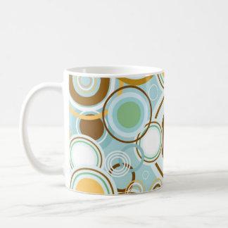 Retro Bubble Pattern Coffee Mug