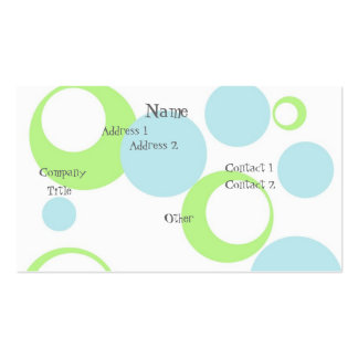 Retro Bubbles Double-Sided Standard Business Cards (Pack Of 100)