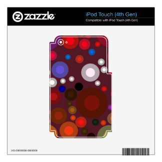 Retro Bubbles Decal For iPod Touch 4G