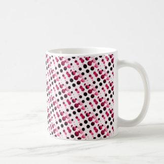 Retro Bubbles Mug, Pink Classic White Coffee Mug