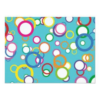 Retro Bubbly Circles Card