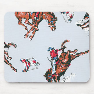 Retro Bucking Broncho Mouse Pads