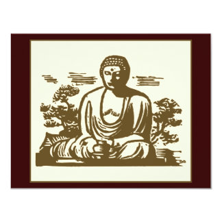 Retro Buddha Card