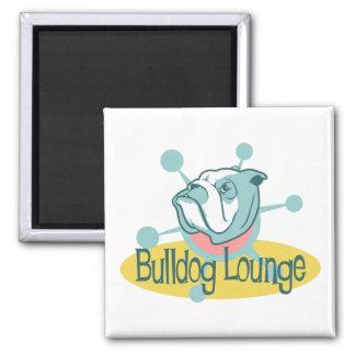 Retro Bulldog Lounge Magnet