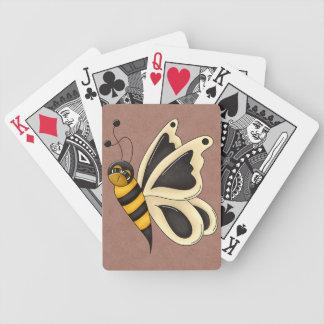 Retro Bumblebee Butterfly Card Decks