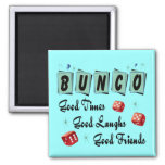 Retro Bunco 2 Inch Square Magnet