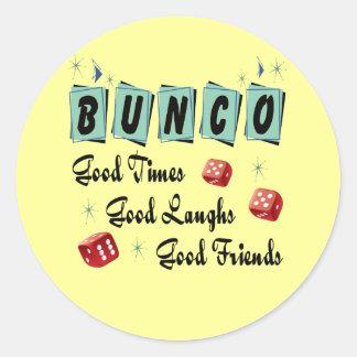 Retro Bunco Classic Round Sticker