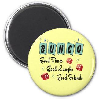 Retro Bunco 2 Inch Round Magnet