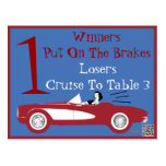 Retro Bunco Red Convertible Table Card #1 Post Cards