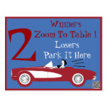 Retro Bunco Red Convertible Table Card #2 Post Cards