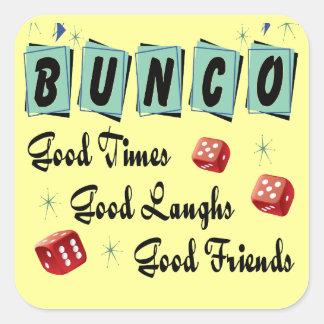 Retro Bunco Square Sticker