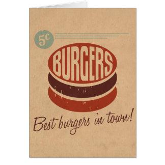 Retro Burger Greeting Card
