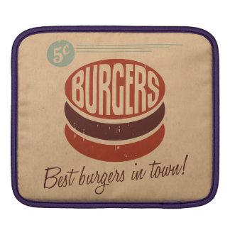Retro Burger iPad Sleeve