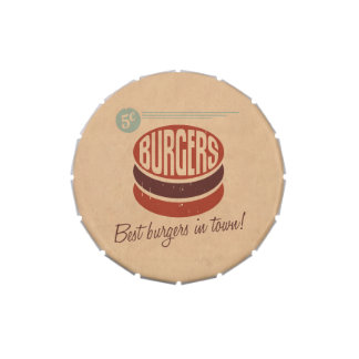 Retro Burger Jelly Belly Tins