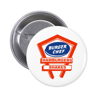 Retro Burger Joint For The Burger Chef Pinback Buttons