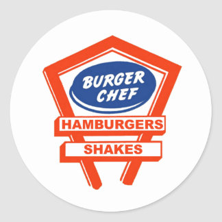 Retro Burger Joint For The Burger Chef Classic Round Sticker