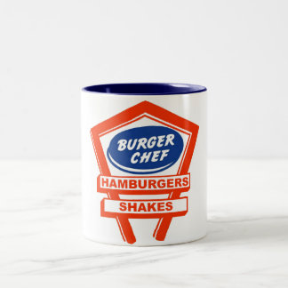 Retro Burger Joint For The Burger Chef Two-Tone Coffee Mug