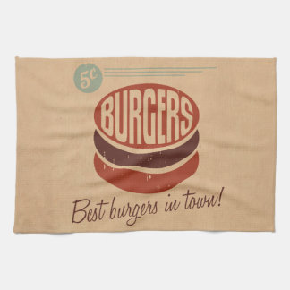Retro Burger Kitchen Towel