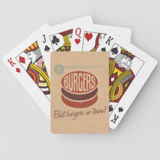 Retro Burger Playing Cards